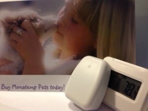 MonatempPets.com sensor and monitor will provide you with the assurance of your pet's comfort and safety. On sale for 24.99.